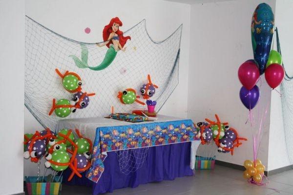 Decoracion De Cumpleanos La Sirenita Fiestas Tematicas