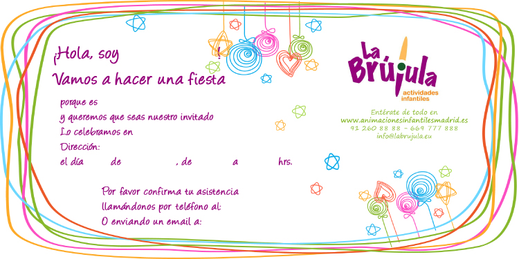 Invitaciones para fiestas infantiles de cumpleaños